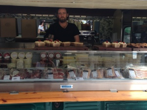 Alan McBride in Coppi food van