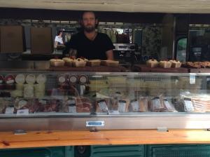 Alan McBride in Coppi food van