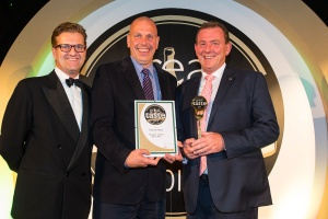 Peter Hannan (far right) receiving a Great Taste Award