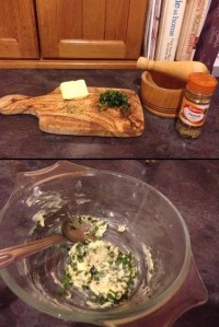 Chopped Basil, Fennel Seeds and Butter