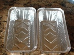 Aluminium trays used to bake soda bread