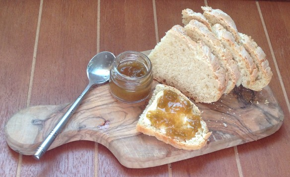 Rhubarb Jam and homemade soda bread