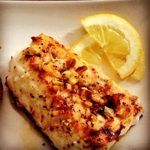 Hake with Lemon and Fennel butter.