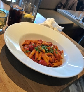 Pasta with a spicy Arrabiata tomato sauce