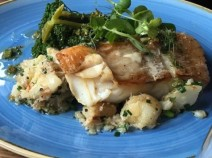 Smoked cod with crab crushed potatoes