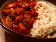 Ratatouille with couscous